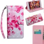 Light Spot Decor Patterned Leather Wallet Case for Samsung Galaxy A01 – Peach Blossom
