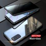 Anti-peep Magnetic Installation Metal Frame + Tempered Glass Hybrid Case [Not Support Fingerprint Unlock] for Samsung Galaxy S20 – Black