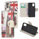 Pattern Printing Cross Texture Leather Wallet Case for Samsung Galaxy A41 (Global Version) – UK Flag