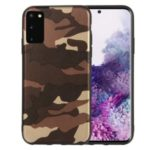 Camouflage Pattern TPU Shell for Samsung Galaxy S20 – Brown