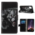 Patterned PU Leather Covering Wallet Stand Protection Case for Samsung Galaxy A71 5G SM-A716 – Fierce Wolf