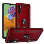 Hybrid PC TPU Kickstand Armor Phone Case for Samsung Galaxy A90 5G – Red