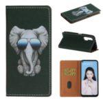 Pattern Printing PU Leather Card Slot TPU Case for Huawei Nova 6 4G Version  – Elephant