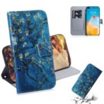 Pattern Printing Wallet Leather Shell Stand Phone Case for Huawei P40 – Flower Tree