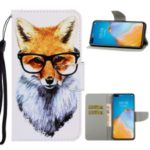 Pattern Printing Leather Wallet Stand Case for Huawei P40 Pro – Dog