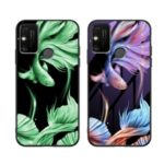 Luminous Tempered Glass PC + TPU Unique Case for Huawei Honor Play 9A – Fish