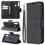 Wallet Leather Stand Case for Huawei P40 lite E / Y7p – Black