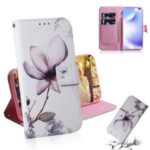 Pattern Printing PU Leather Wallet Stand Case for Xiaomi Redmi K30 – Beautiful Flowers