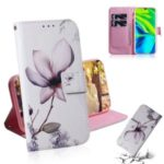 Pattern Printing Leather Wallet Case for Xiaomi Mi 10 / Mi 10 Pro – Beautiful Flowers