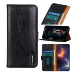 Magnetic Closure Leather Wallet Cell Phone Casing for OnePlus 8 Pro – Black