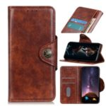 Protection Wallet Stand Leather Case for OnePlus 8 Pro – Brown