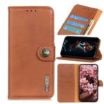 KHAZNEH Wallet Stand Leather Casing Cell Phone Cover for Nokia 1.3 – Brown