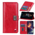 Wallet Stand Leather Protective Cover Shell for Nokia 1.3 – Red