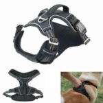 TAILUP Dog Running Rope Dog Traction Rope Set Retractable Pet Leash – Size: M/Black