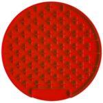 Round Shape Pet Slow Feeder Silicone Anti-Choking Feeding Dish Plate – Red