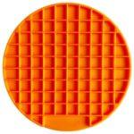 Round Shape Silicone Pet Slow Feeder Anti-Choking Feeding Dish Plate – Orange