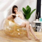 Lounger Air Sofa Waterproof Glitter Inflatable PVC Chair for Adults and Kids – Gold