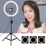 PULUZ 11.8 inch 30cm USB 3 Modes Dimmable LED Ring Vlogging Video Light Live Broadcast Kits with Tripod Stand and Phone Clamp