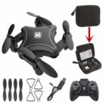 902 Folding Drone Quadcopter WiFi Remote Control Altitude Hold RC Aircraft – Black