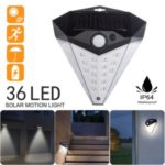 Waterproof Solar Power Light 36 – LED Human Body Induction Lamp Landscape Garden Wall Lamp