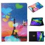 Pattern Printing Card Slots Flip Leather Tablet Cover for iPad Pro 11-inch (2020)/(2018) – Eiffel Tower