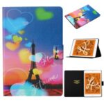 Pattern Printing Card Slots Flip Leather Tablet Shell for iPad Mini (2019) 7.9 inch/Mini 4/Mini 3/Mini 2/Mini – Eiffel Tower