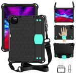 Honeycomb Skin EVA Tablet Case with Shoulder Strap for iPad Pro 11-inch (2020)/(2018) – Black / Cyan
