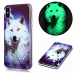 Noctilucent TPU IMD Patterned Protection Phone Case for iPhone X/XS – Dog