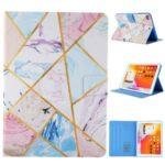 Pattern Printing Card Slots Flip Leather Tablet Shell for iPad Mini/Mini 2/Mini 3/Mini 4/Mini (2019) 7.9 inch – Marble Pattern