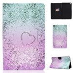 Pattern Printing Leather Stand Tablet Cover for Samsung Galaxy Tab S6 Lite P610 P615 – Glittery Element and Heart