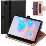 WY-2099 Business Style Leather Handheld Tablet Case with Card Slots for Samsung Galaxy Tab S6 Lite – Black