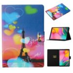 Pattern Printing Leather Stand Case with Card Slots for Samsung Galaxy Tab A 10.1 (2019) T510 T515 – Eiffel Tower