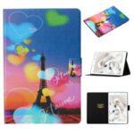 Pattern Printing PU Leather Card Holder Case for Samsung Galaxy Tab A 8.0 Wi-Fi (2019) SM-T290 – Eiffel Tower