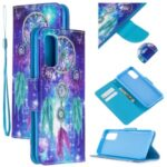 Cross Texture Pattern Printing Flip Leather Wallet Stand Case for Samsung Galaxy S20 – Dream Catcher