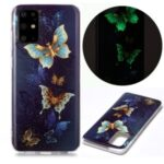 Luminous TPU Pattern Printing IMD Protetive Shell for Samsung Galaxy S20 Plus – Beautiful Butterfly