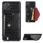 Crocodile Skin PU Leather Coated TPU Case for Samsung Galaxy A81/Note 10 Lite – Black
