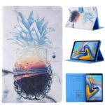 Pattern Printing Card Slots Flip Leather Tablet Case for Samsung Galaxy Tab A 8.0 Wi-Fi (2019) SM-T290/T295 – Pineapple