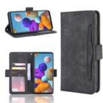 Multiple Card Slots Wallet Leather Protection Case for Samsung Galaxy A21s – Black