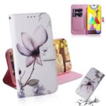 Pattern Printing Leather Wallet Case with Stand Phone Covering for Samsung Galaxy M31 – Beautiful Flowers