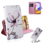 Pattern Printing Leather Wallet Case with Stand Protective Covering for Samsung Galaxy A31 – Beautiful Flowers