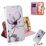 Printing Skin Leather Wallet Phone Case for Samsung Galaxy A11/M11 – Lotus