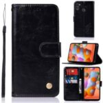 Premium Vintage Leather Wallet Case for Samsung Galaxy A11 – Black