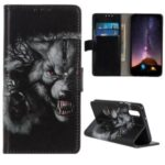 Pattern Printing Wallet Leather Flip Case for Sony Xperia L4 – Fierce Wolf