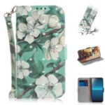 Patterned Light Spot Decor Leather Wallet Phone Case for Sony Xperia L4 – Beautiful Flowers