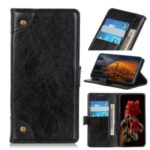 Nappa Texture Wallet Leather Cell Phone Case for LG K51/Q51 – Black
