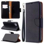Litchi Skin Wallet Leather Stand Case for Huawei P40 Lite / Nova 7i / Nova 6 SE – Black