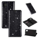 Flash Powder Auto-absorbed Leather Cover Stand Shell for Huawei P40 lite/nova 6 SE/Nova 7i – Black