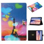 Pattern Printing Card Slots Flip Leather Tablet Shell for Huawei MediaPad T5 10 – Eiffel Tower
