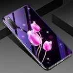 Plated TPU Frame + Blue-ray Tempered Glass + PC Back Hybrid Case for Huawei nova 7 5G – Tulip