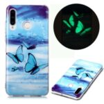Noctilucent Patterned IMD TPU Cover for Huawei P30 Lite / nova 4e – Blue Butterfly